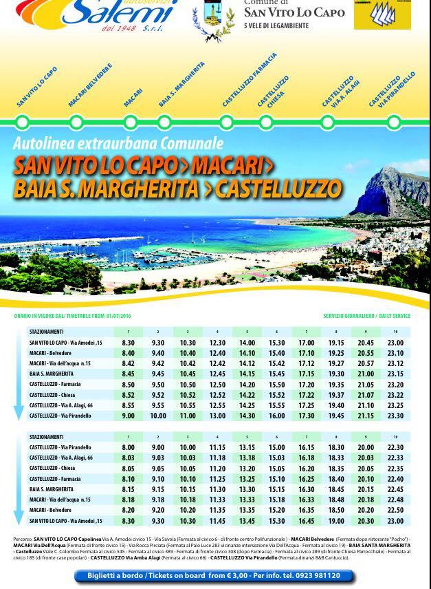Bus San Vito Lo Capo - Karma Vacanze